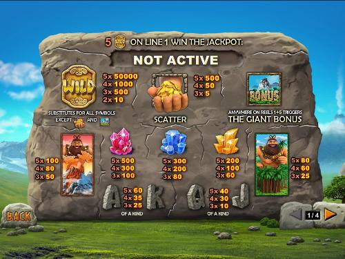 free Jackpot Giant slot payout