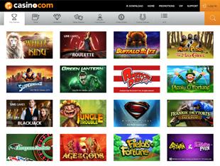 Casino.com Lobby