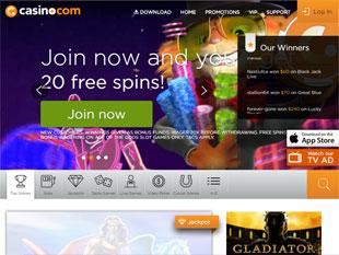 Casino.com Mobile Home